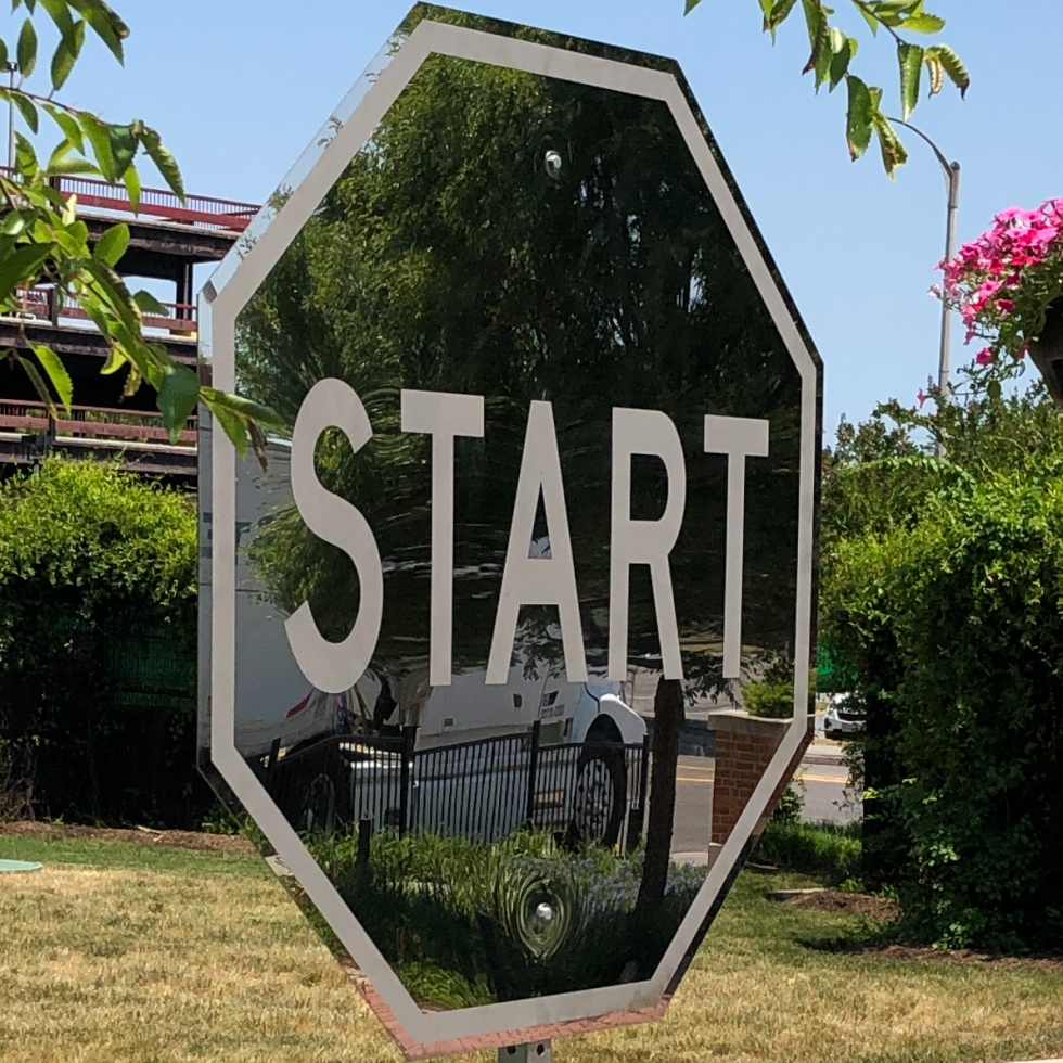 Image of START NOW Stop sign